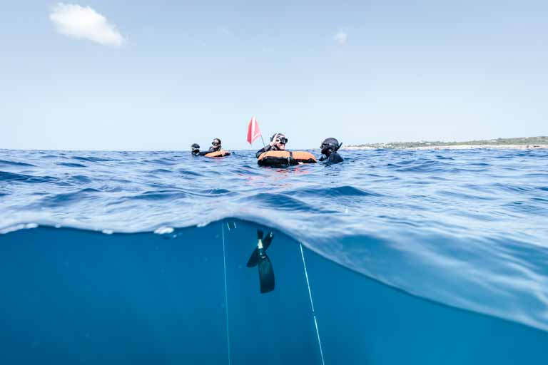 beginner freediver camp menorca