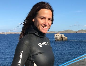 Valeria Olives Babler instructora de freediving